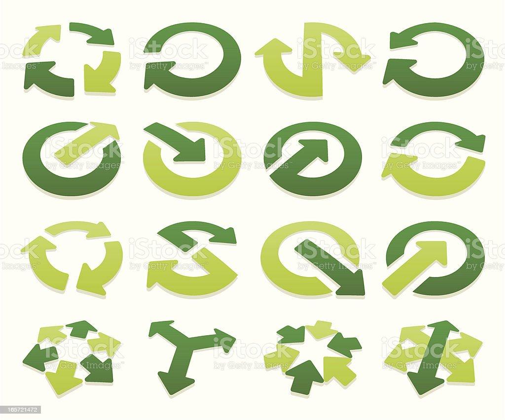 arrow signs volumetric II vector art illustration