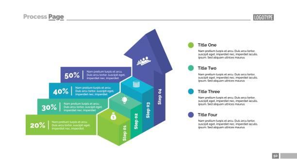 矢印の階段スライド テンプレート - business icon eps点のイラスト素材/クリップアート素材/マンガ素材/アイコン素材