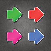 Arrow sticker web label direction sign internet icon noise tex