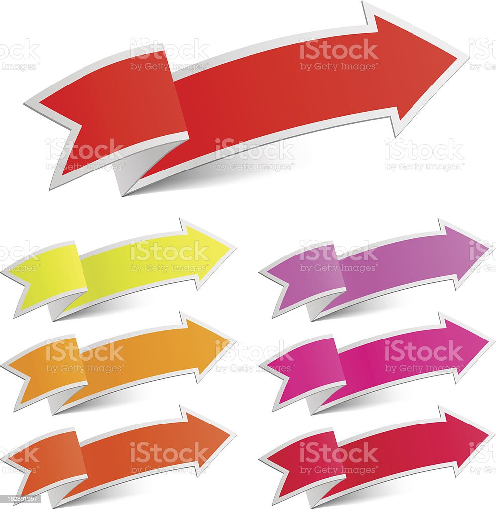 Arrow stickers royalty-free arrow stickers stock vector art & more images of bookmark