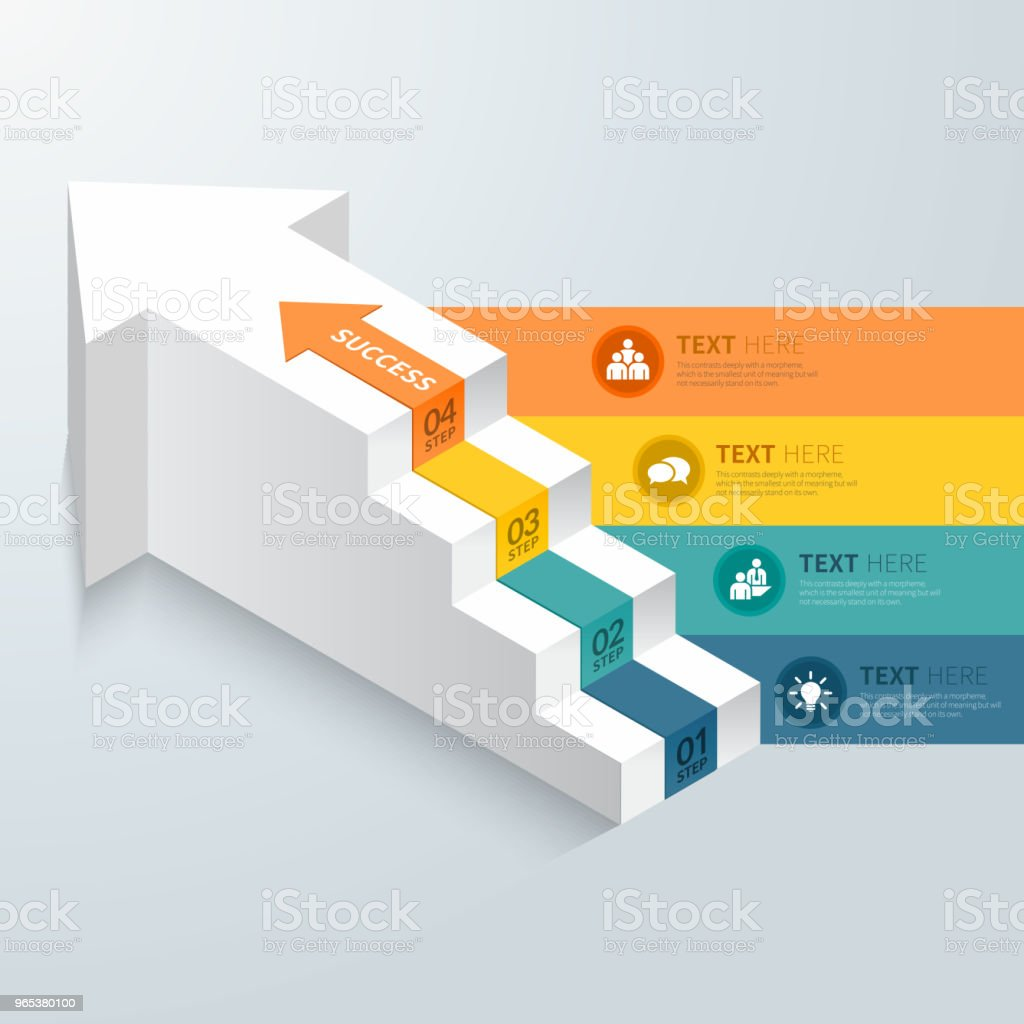 Arrow stpes infographic. royalty-free arrow stpes infographic stock illustration - download image now