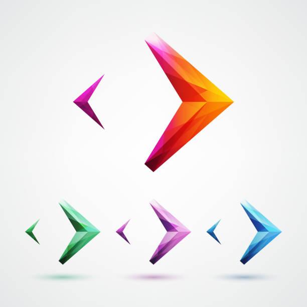pfeil-zeichen logo design-element - mosaikglas stock-grafiken, -clipart, -cartoons und -symbole