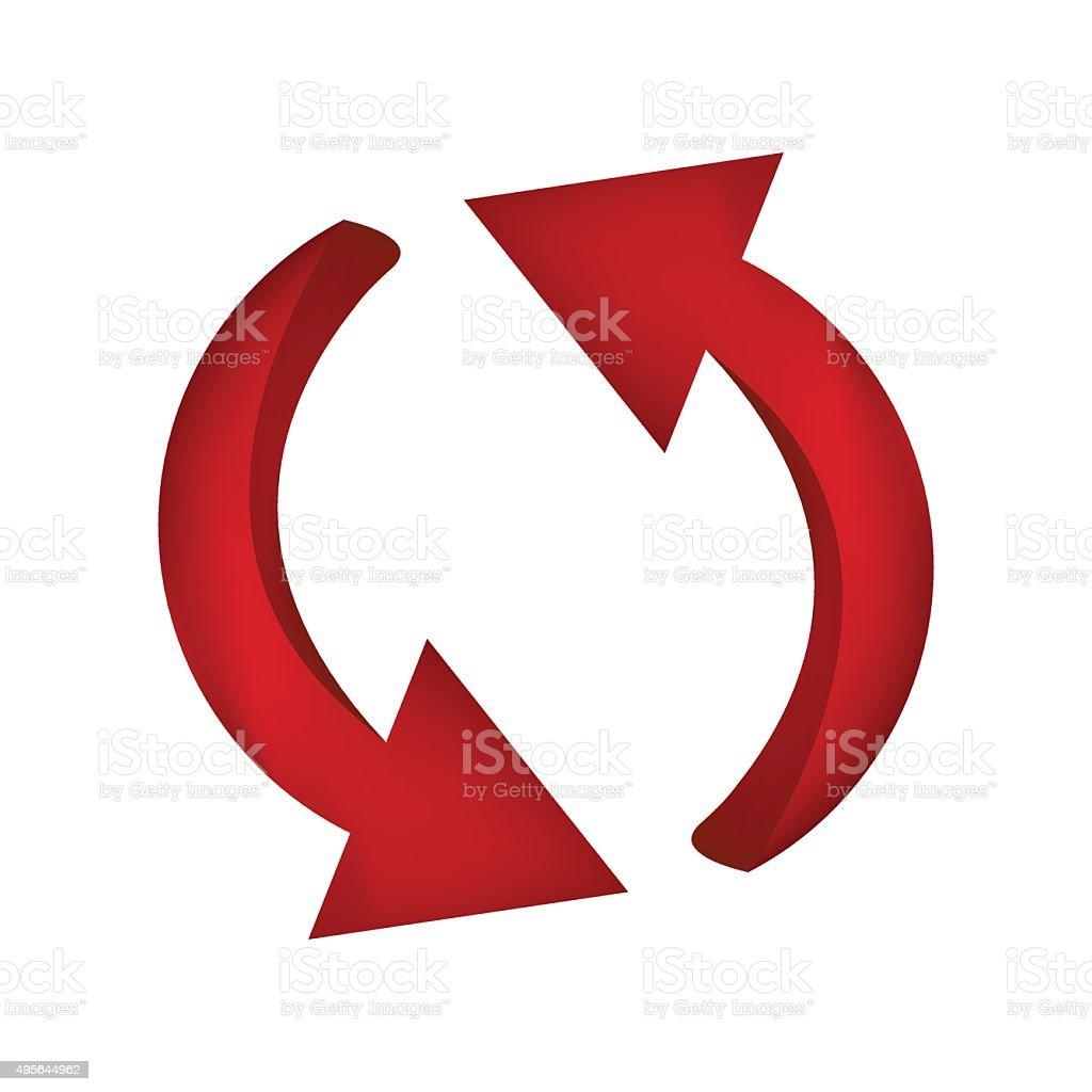 矢印記号赤色のアイコンのクリップアートのビジネスのコンセプト