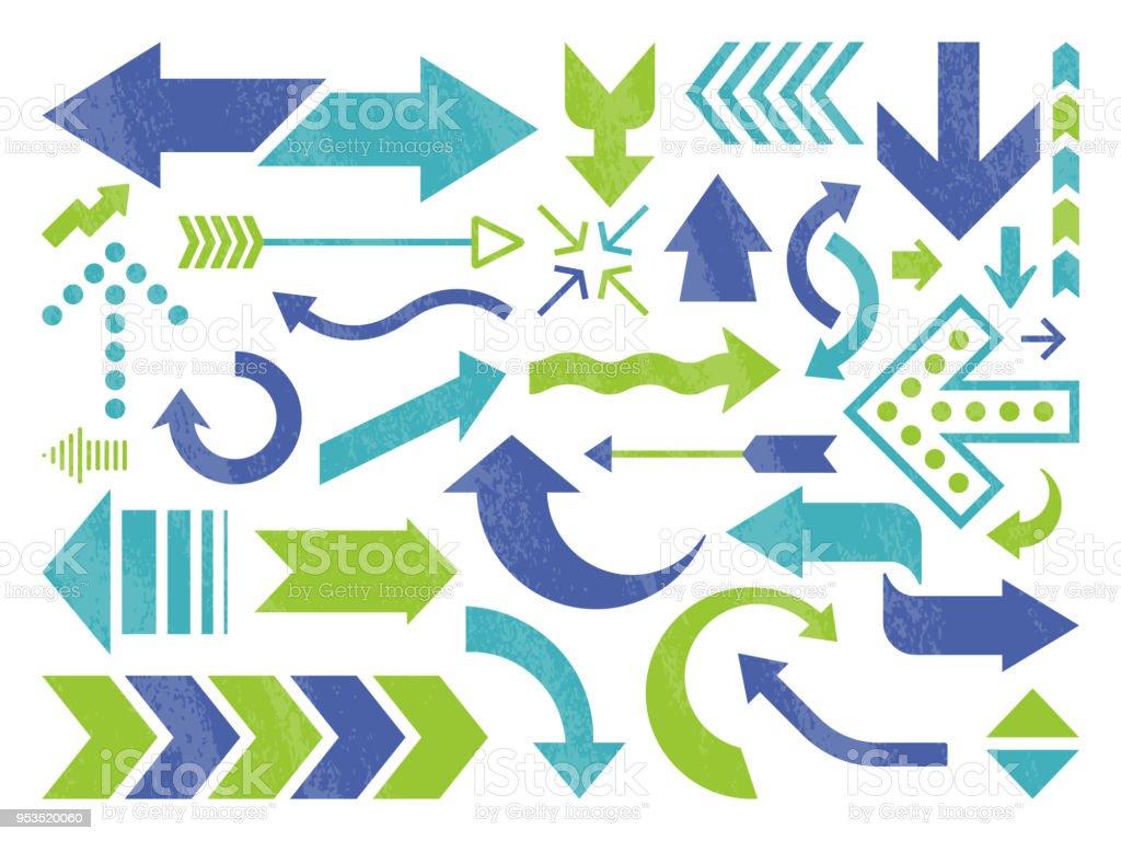 Arrow Symbols and Icons vector art illustration