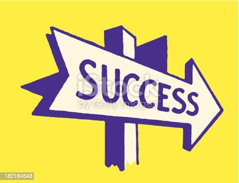 Arrow to Success Sign