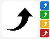 Arrow Up Icon Flat Graphic Design