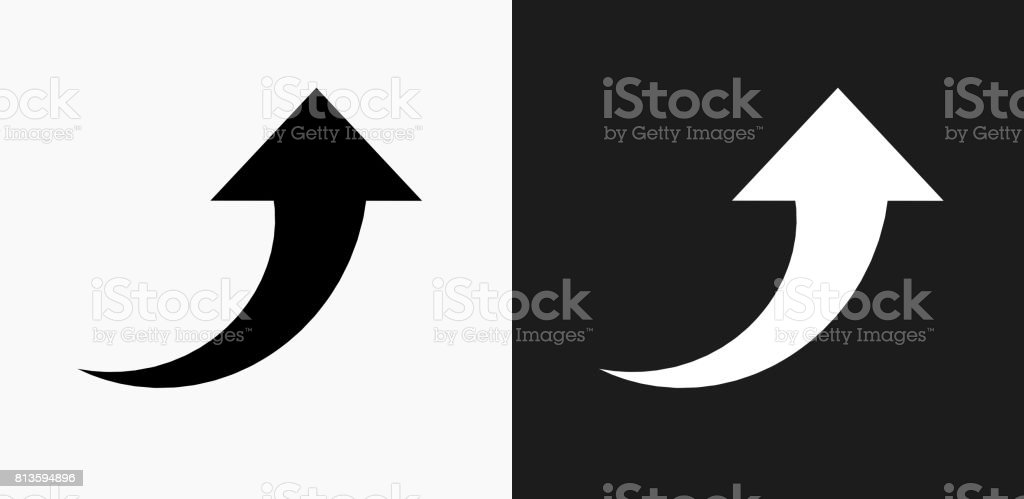 Arrow up icon on black and white vector backgrounds stock vector art arrow up icon on black and white vector backgrounds royalty free arrow up icon on altavistaventures Gallery