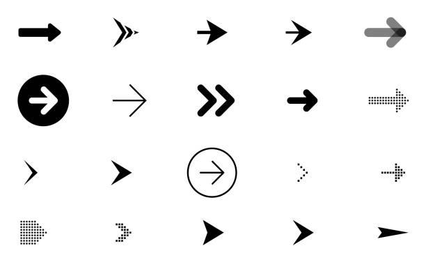 箭頭向量圖示、指標、符號集合 - arrow 幅插畫檔、美工圖案、卡通及圖標