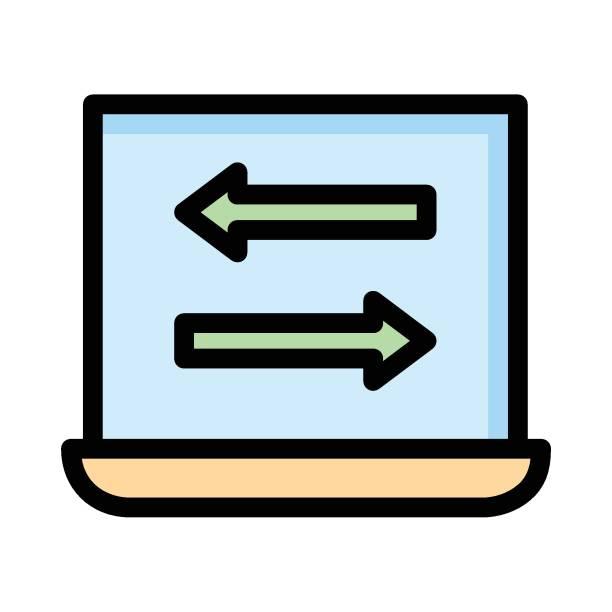 arrow - wayfinding icons stock illustrations, clip art, cartoons, & icons