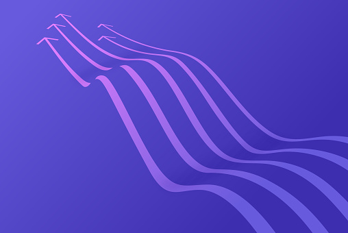 Arrow Waves Abstract Background