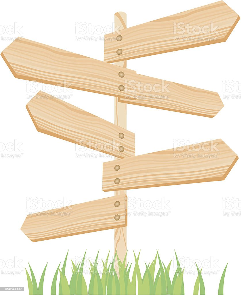 arrow wood vector art illustration