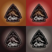 A set of coffee labels.