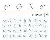 Arrows and direction vector icons