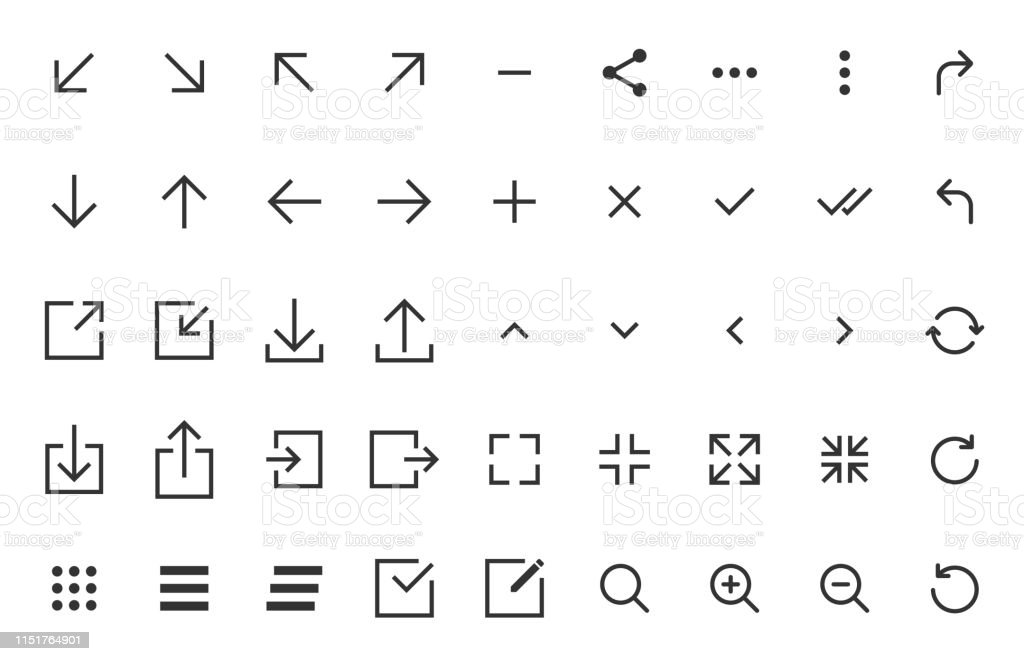 arrows and signs web icons - Grafika wektorowa royalty-free (Aplikacja mobilna)