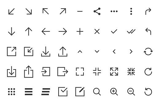 arrow icons stock illustrations