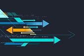 futuristic arrows background