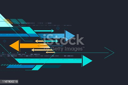 futuristic arrows background