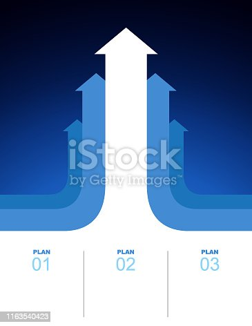 Vector of Arrows business growth plan background. EPS AI 10 file format.