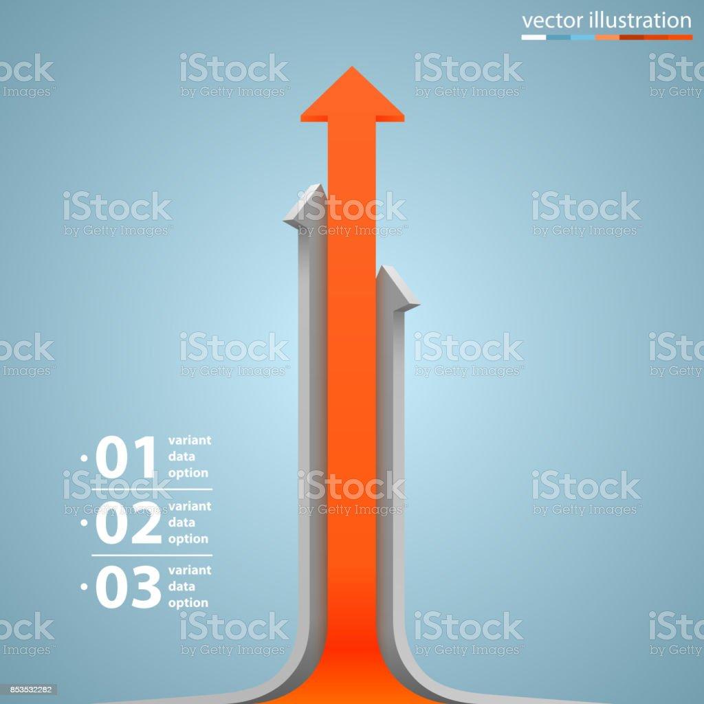 Flèches de croissance d'affaires - Illustration vectorielle
