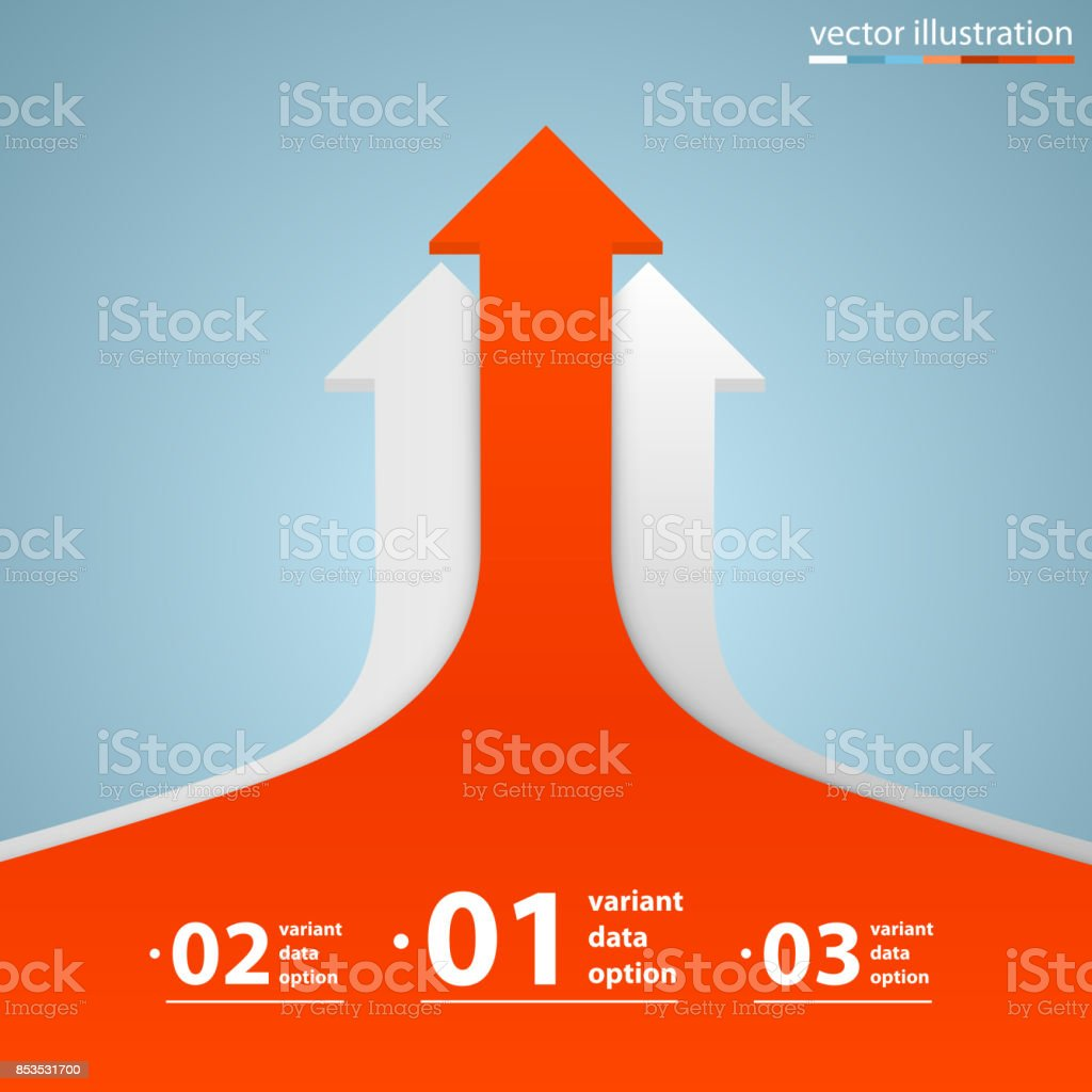 Arrows business growth. Vector vector art illustration