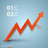 Arrows business growth art info. Vector illustration