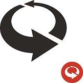 Arrows circle 3D icon