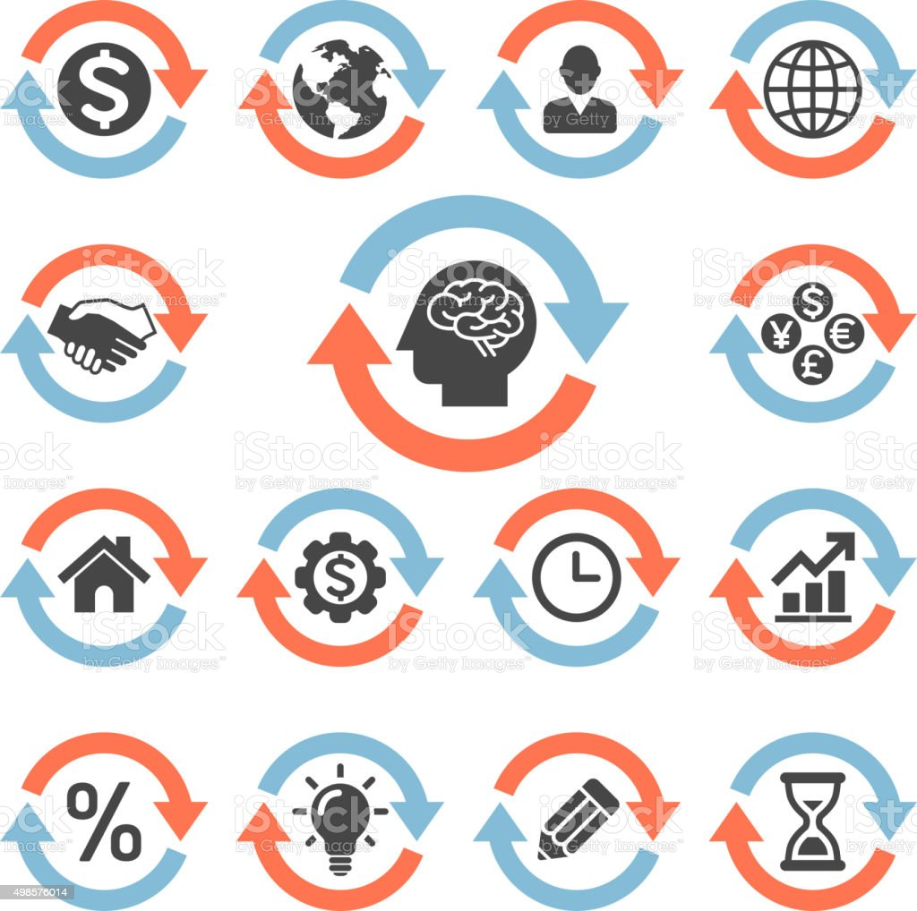 Pfeil Konzept icons set. – Vektorgrafik