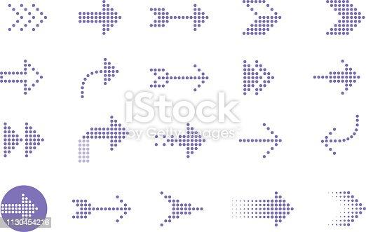 arrows dots