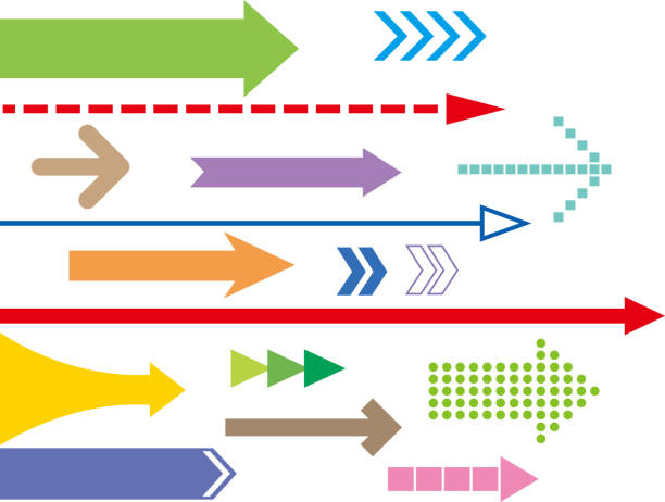Arrows group High resolution jpeg included. Vector files can be re-edit and used in any size almanac stock illustrations
