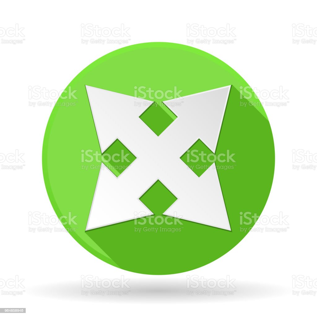 Arrows icon. Green round sign with shadow. Combo arrows royalty-free arrows icon green round sign with shadow combo arrows stock vector art & more images of advice