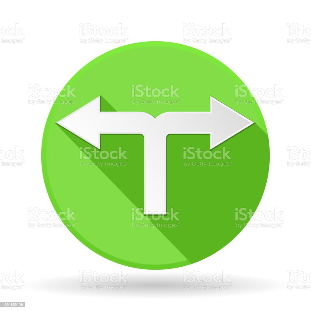 Arrows icon. Green round sign with shadow. Left and right combo arrow royalty-free arrows icon green round sign with shadow left and right combo arrow stock vector art & more images of advice