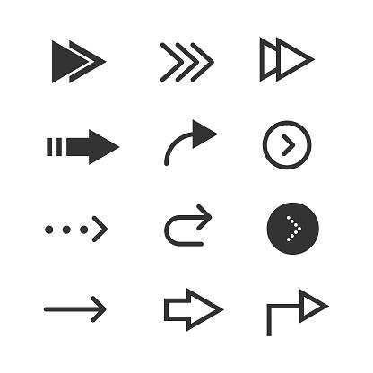 Arrows Icon Set Vector Design.