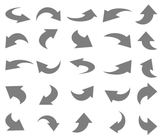 Arrows icon set Arrows icon set , vector illustration bending stock illustrations