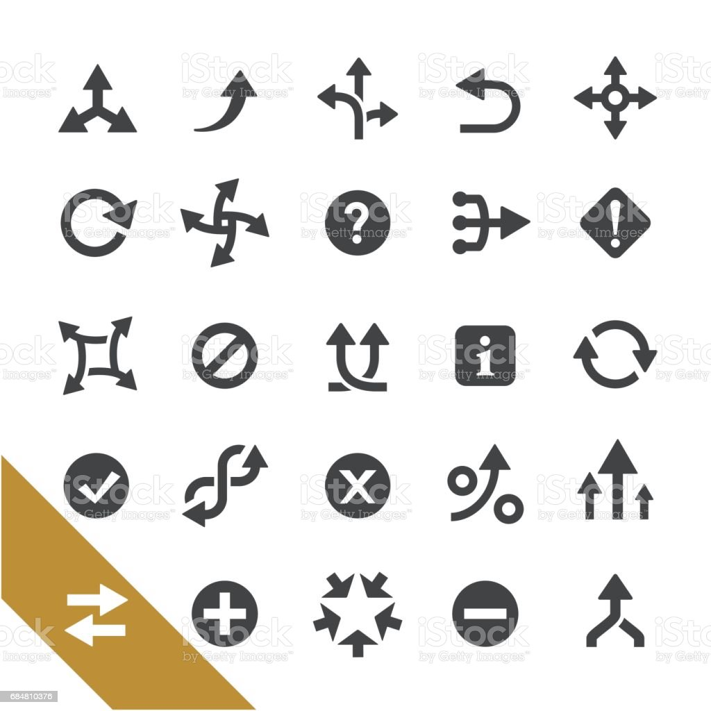Arrows Icons - Select Series vector art illustration