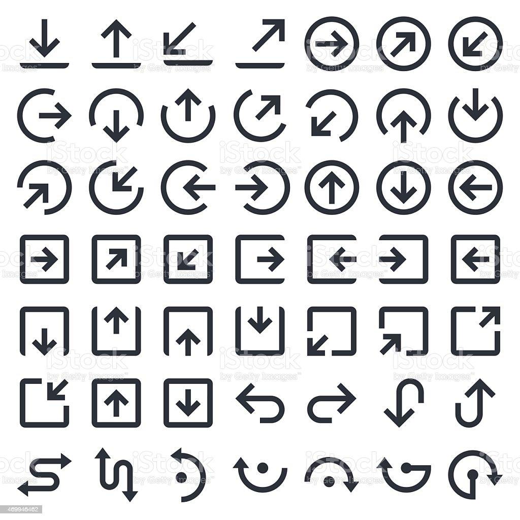 Arrows icons set 1 | 49ers Series vector art illustration