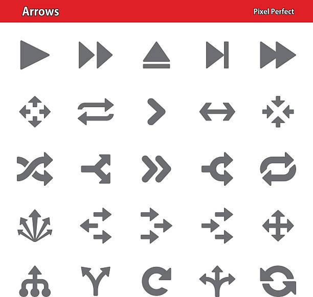 arrows icons - set 2 - crossing stock illustrations, clip art, cartoons, & icons