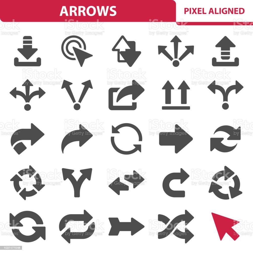 Arrows Icons arrows icons - immagini vettoriali stock e altre immagini di condividere royalty-free