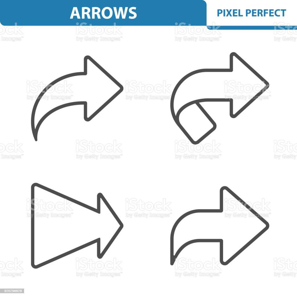 Arrows Icons vector art illustration