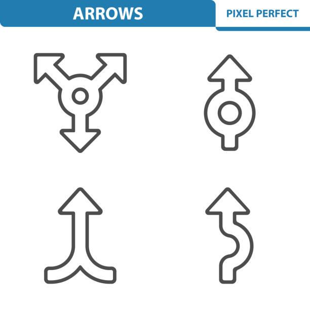 illustrations, cliparts, dessins animés et icônes de arrows icons - rond point