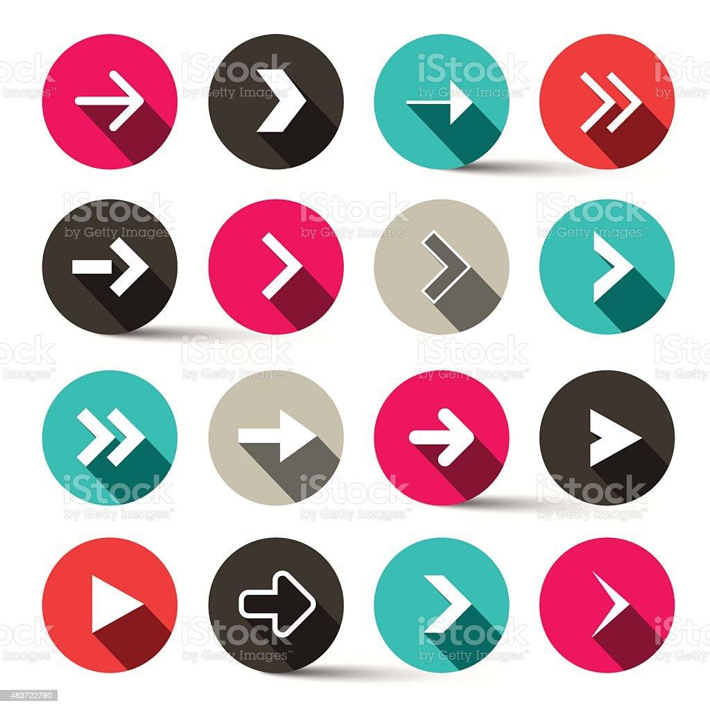 Arrows in Circles - Vector vector art illustration