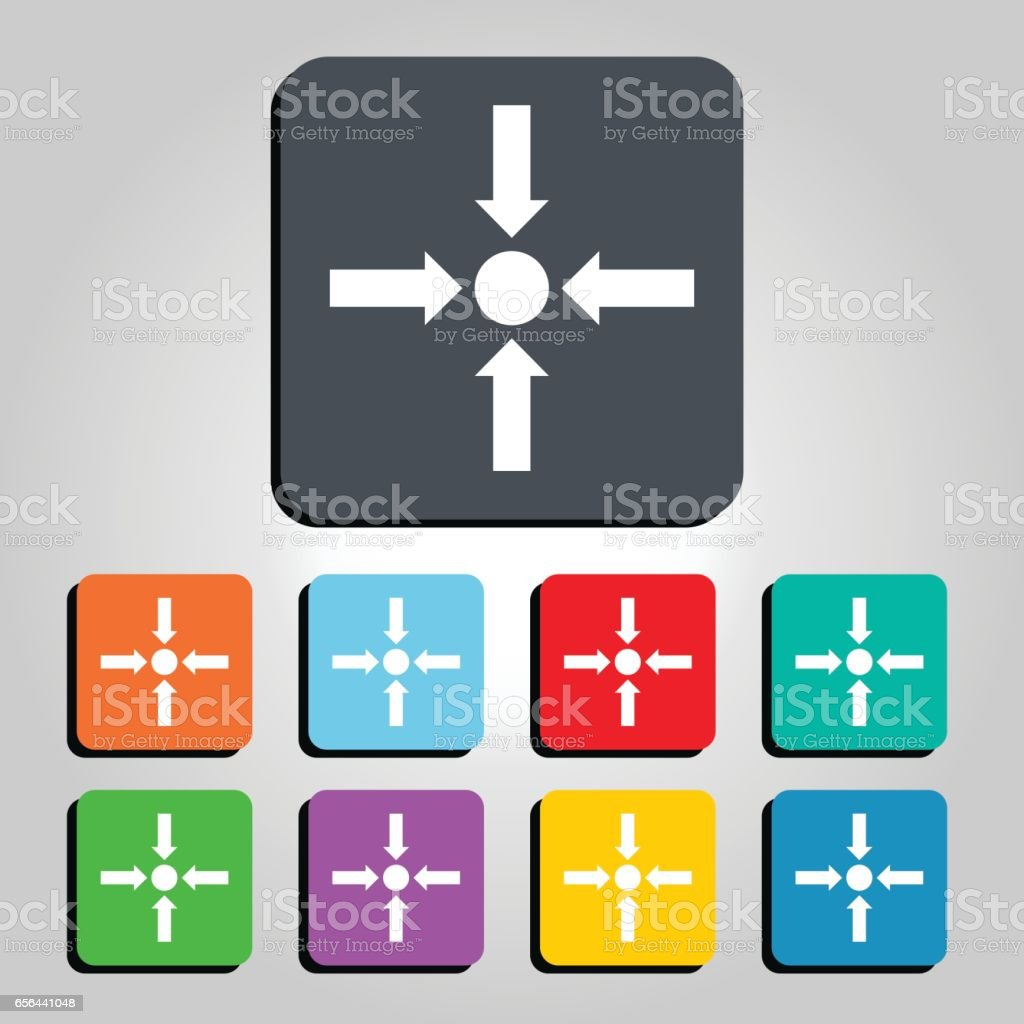 Arrows In The Center Vector Icon Illustration vector art illustration