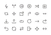 Arrows - Line Icons - Vector EPS 10 File, Pixel Perfect 24 Icons.