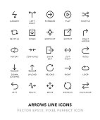 Arrows Line Icons Vector EPS 10 File, Pixel Perfect Icons.