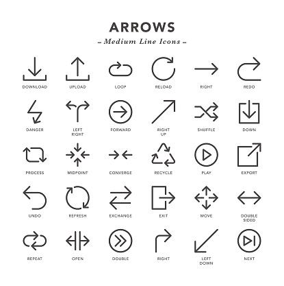 Arrows - Medium Line Icons