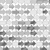 istock Arrows pattern with internal pattern on white. Different sizes. 1278434824