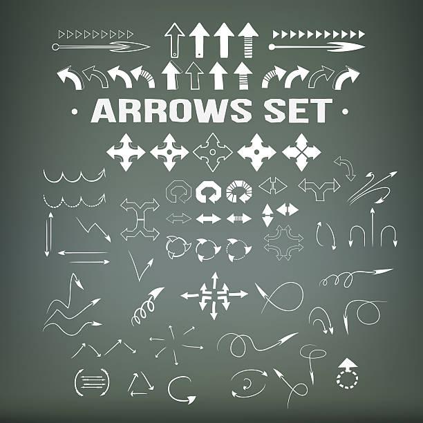 arrows set, Zeichnung Pfeile set, skizzierte Stil – Vektorgrafik