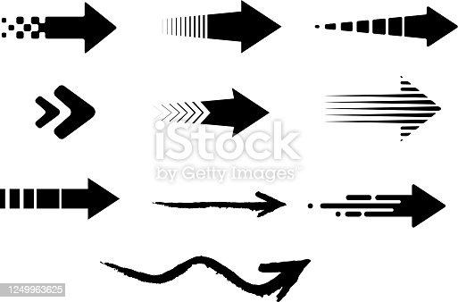 long arrows design element set