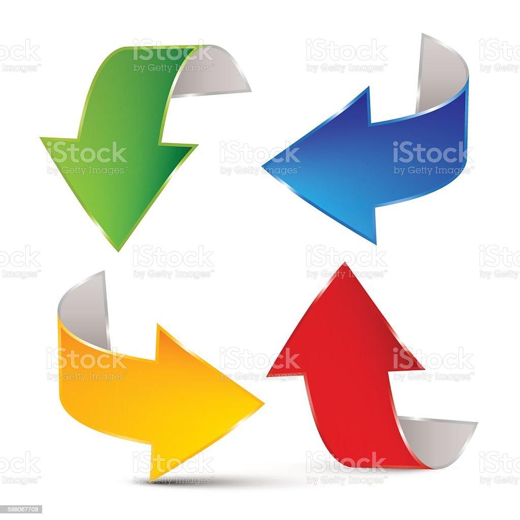 Arrows Set vector art illustration