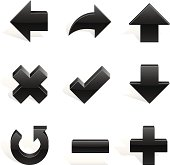 Arrows and Signs on white background Vector Image. Adobe Illustrator EPS 8 File, Easy to modify... See More...