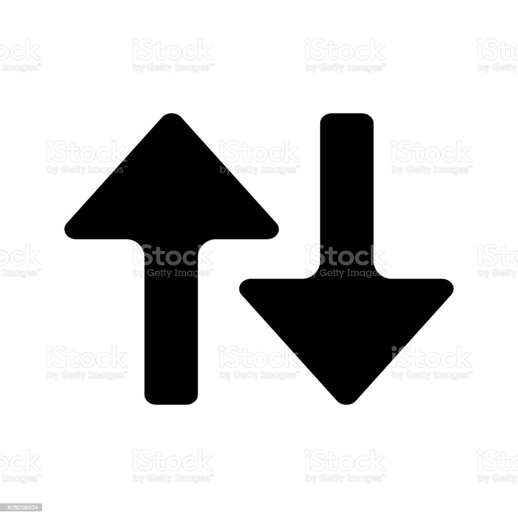 Arrows Up Down Comparison Icon Stock Vector Art More Images Of